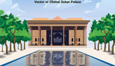 طرح لایه باز وکتور کاخ چهل ستون