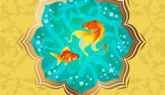 وکتور ماهی قرمز عید نوروز