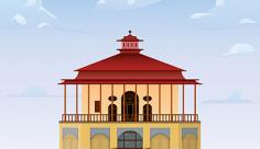 طرح لایه باز وکتور عمارت کلاه فرنگی قزوین
