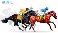 وکتور ورزش و مسابقات اسب سواری