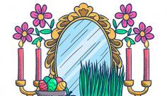 وکتور آینه و شمع عید