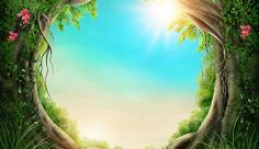 عکس طبیعت انیمیشنی پرگل
