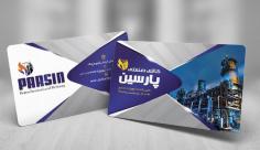 طرح لایه باز کارت ویزیت صنایع پتروشیمی و پالایشگاه