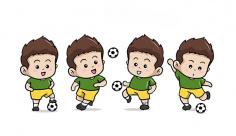 وکتور تمرین فوتبال