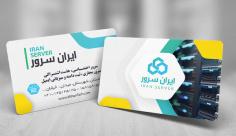 طرح لایه باز کارت ویزیت خدمات سرور