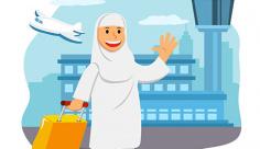 وکتور کاراکتر حجاب مادربزرگ در حج