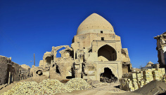 عکس شهر سوخته متروک نایین