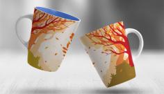 طرح لایه باز سابلیمیشن ماگ تبلیغاتی متولدین فصل پاییز