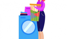 وکتور شستن لباس با ماشین لباسشویی