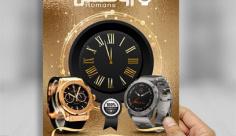 طرح لایه باز پوستر ساعت فروشی رومنس