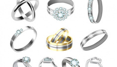 وکتور کاراکتر جواهر و انواع حلقه ازدواج