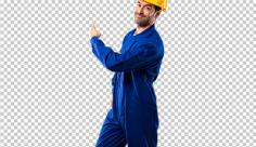 عکس برش خورده دوربری کارگر نفتی