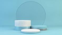عکس بک گراند مدل مینیمال آبی روشن