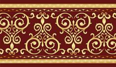 وکتور حاشیه اسلیمی و تذهیب هاشور زمینه قرمز