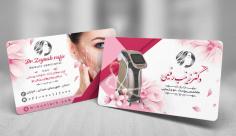 طرح لایه باز کارت ویزیت  متخصص پوست و مو