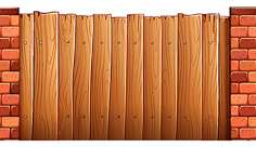 وکتور دیوار چوبی