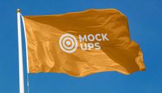 موکاپ پرچم و میله پرچم
