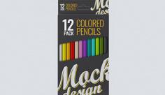 موکاپ جعبه مداد رنگی