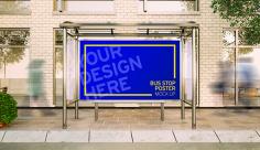 موکاپ بنر تبلیغاتی ایستگاه اتوبوس