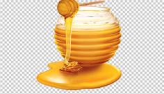 عکس برش خورده ظرف عسل طبیعی