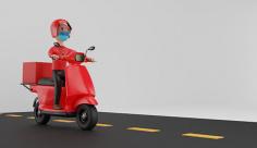 عکس مینیمال سه بعدی پیک موتوری