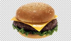 عکس برش خورده همبرگر