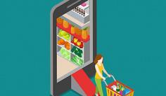 وکتور فروشگاه آنلاین مواد غذایی