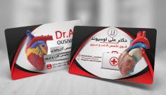 طرح لایه باز کارت ویزیت متخصص قلب و عروق