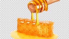 عکس برش خورده عسل طبیعی