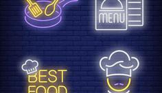 لوگو و آیکن طرح رستوران و غذا خوری