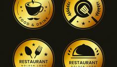 مجموعه آیکن و لوگو آشپزخانه و کافه رستوران