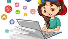 وکتور تحصیل و آموزش با کامپیوتر