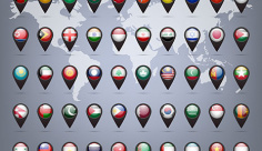 وکتور نماد پرچم کشورها