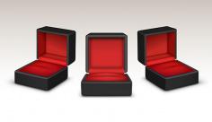 وکتور کاراکتر جواهر و جعبه انگشتر