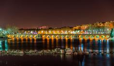 عکس پل چوبی زاینده رود