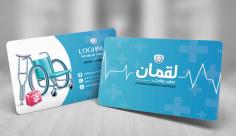 طرح لایه باز کارت ویزیت لوازم پزشکی