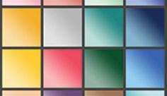 مجموعه ابزارهای فتوشاپ گرادینت طرح مورب رنگارنگ