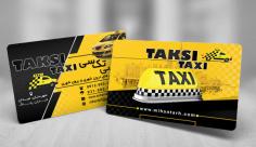 طرح لایه باز کارت ویزیت آژانس و تاکسی سرویس