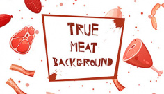 وکتور بک گراند گوشت