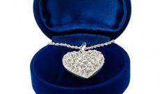 عکس گردنبند الماس شکل قلب