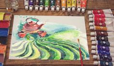 موکاپ نقاشی رنگ روغن