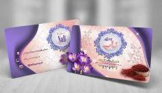 طرح لایه باز کارت ویزیت زعفران