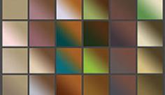 مجموعه ابزارهای فتوشاپ گرادینت طیف رنگ قهوه ای