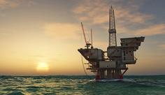 عکس سکوی نفتی دریایی