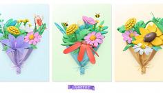 وکتور گل زیبا