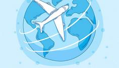 وکتور مسافرت هوایی