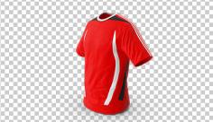 عکس برش خورده سه بعدی پیراهن ورزشی قرمز