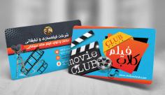 طرح لایه باز کارت ویزیت شرکت فیلمسازی کلاب فیلم
