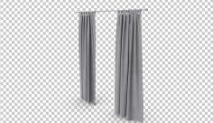 تصویر دوربری سه بعدی پرده خاکستری