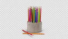 تصویر دوربری مداد رنگی